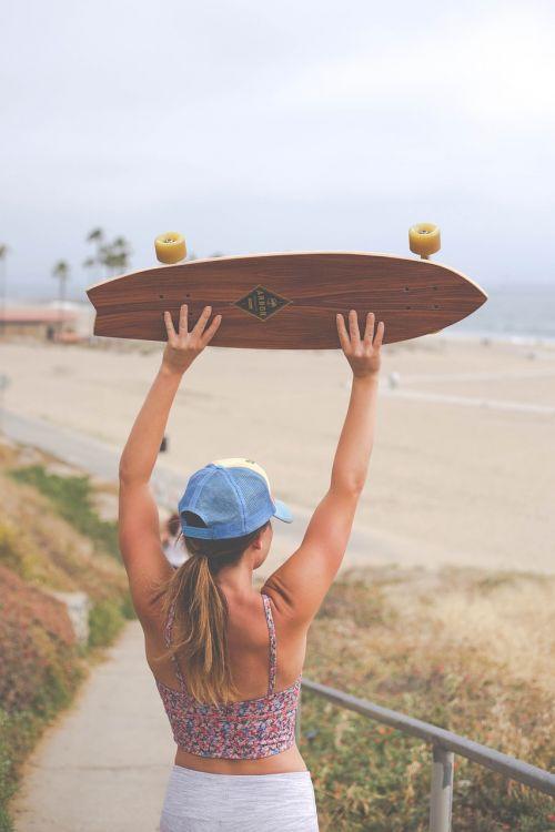 skateboard longboard people