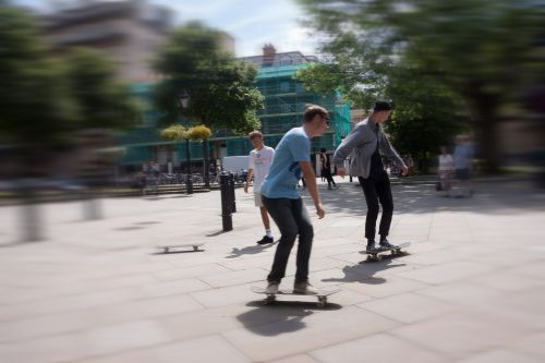 skateboard roll move