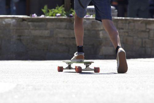 skateboard street young