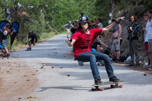 skateboarding longboard skater