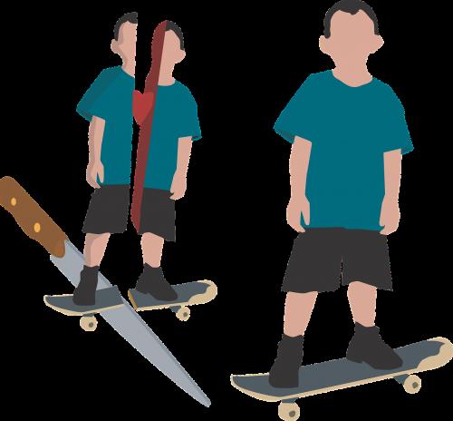 skater knife cut