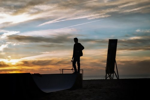 skater  sunset  skateboarding