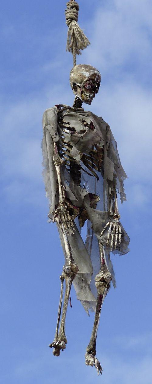 skeleton gallows death