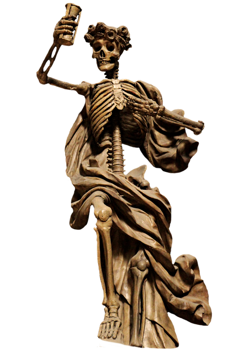 skeleton  the death  png sculpture