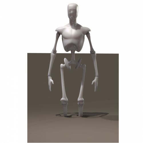 Skeleton In Sand