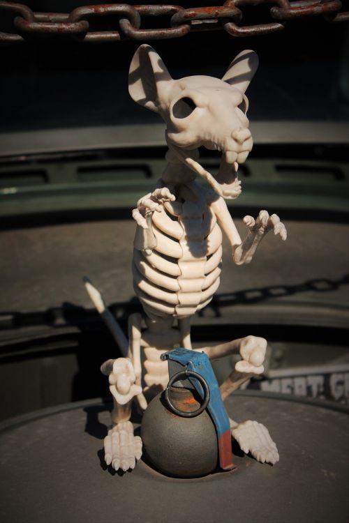 skeleton rat grenade insane