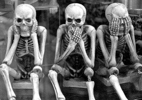 skeletons  funny  hear no evil