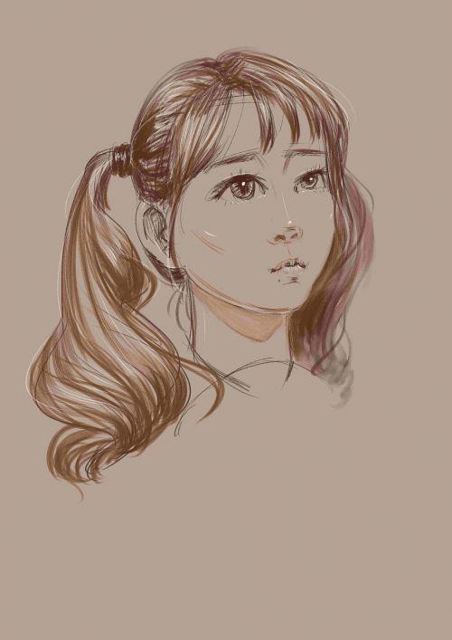 sketch avatar girls
