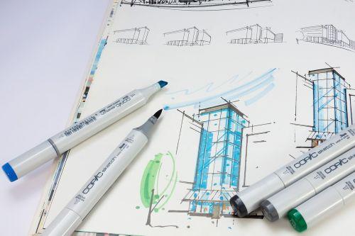 sketch book sketch marker