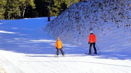 ski winter sports skiers