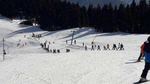 ski runway skiing