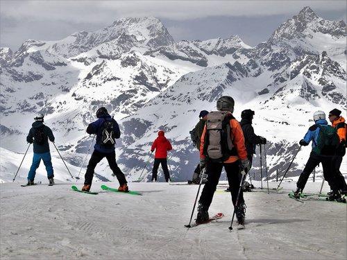 ski  zermatt  ski slope