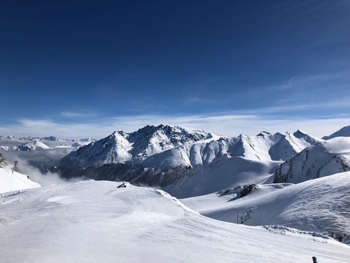ski  ski run  mountains