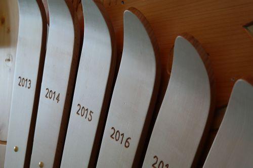 ski skiing trophy