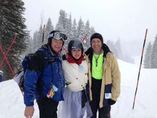 ski winter skiers