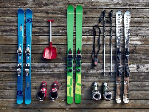 ski equipment skiing