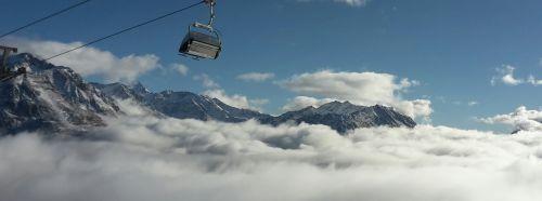 ski area alpine chairlift