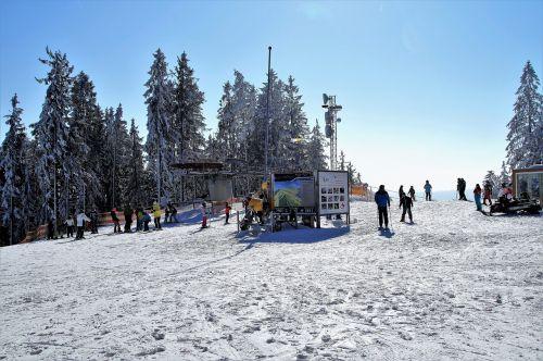 ski areal skiing winter