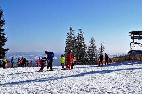 ski areal skiing area winter