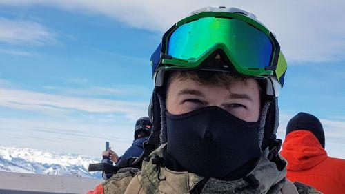 ski glasses ski mask eyes