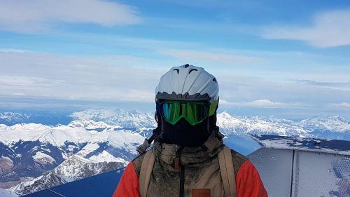 ski glasses ski helmet ski mask