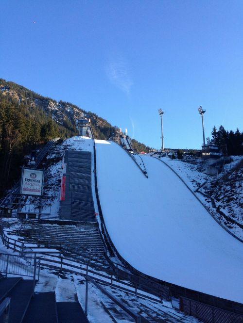 ski jump hill ski sport