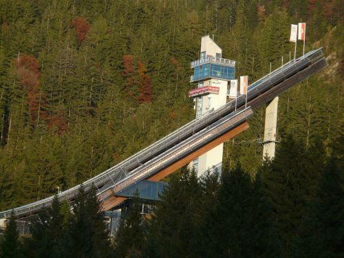 ski jump sports center ski jumping sport