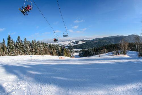 ski lift skis skiers