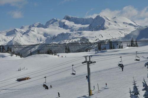 ski lift skiing whistler