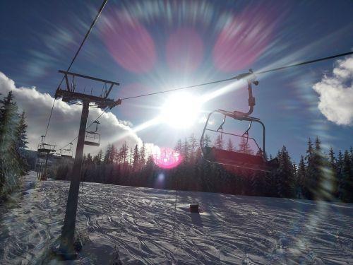 ski lift skiing ski area