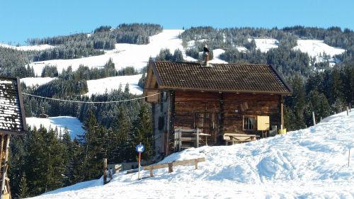 ski lodge mountain hut log cabin