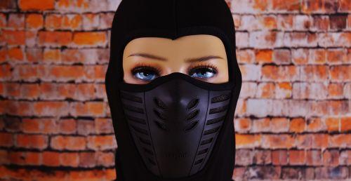 ski mask eyes woman