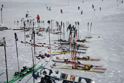 ski poles ski break