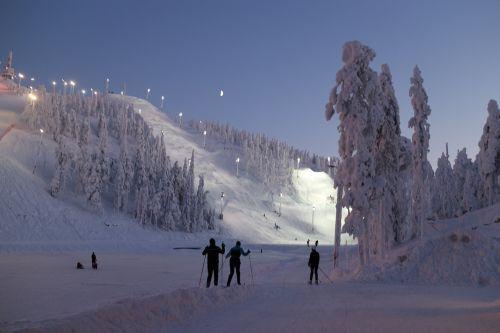 ski resort slopes winter