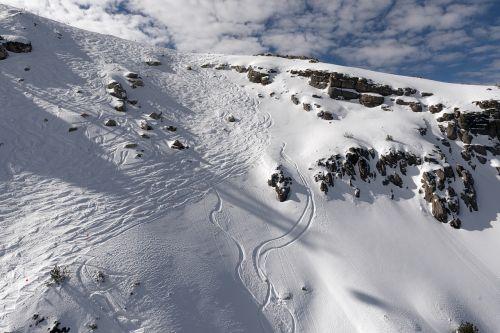 ski slopes mountains winter