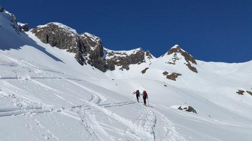 backcountry skiiing elfer head kleinwalsertal