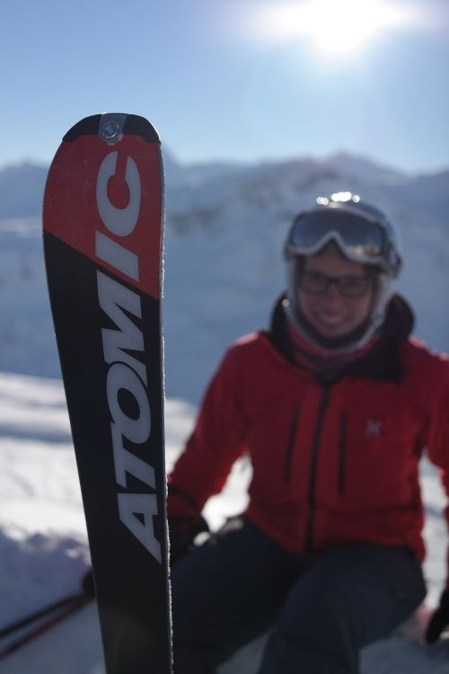 skier skiing advertising