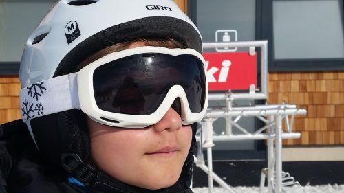 skiers child sporty