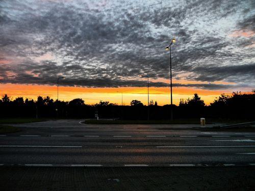 skies sunset hopton