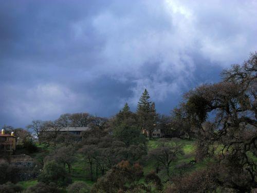 debesys, audra, kalnas, kraštovaizdis, dangaus virš folsom 905