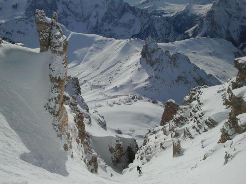 skiing freeriding steep slope