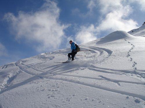 skiing backcountry skiiing departure