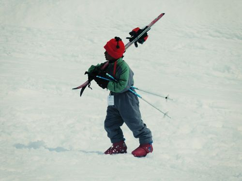 skiing child kid