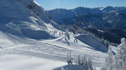 skiing ski slope ski run