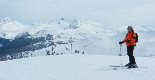 skiing winter sports whistler