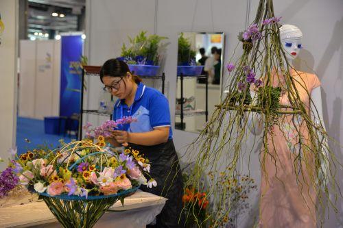 skills competition exhibition flower arrangement