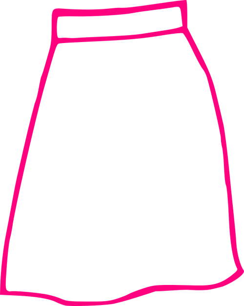 skirt pink long