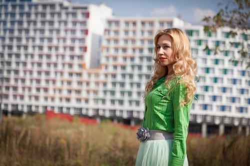 skirt  blouse  city
