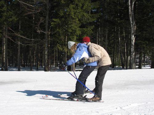 skis winter snow