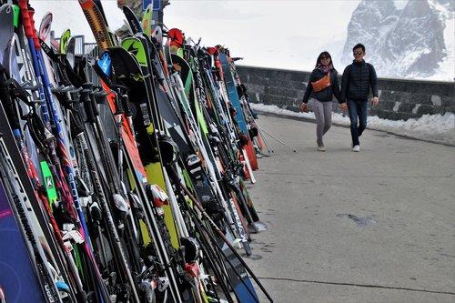 skis  para  zermatt